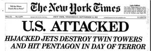 New York Times headline on 9/12